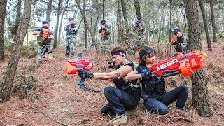 LTT Gaming Nerf Guns : Winter Warriors Use Skill Nerf Guns Fight Attack Infinity War