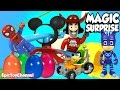 SURPRISE TOYS MAGIC Where is Mickey Mouse? with PJ Masks Surprise Eggs & a Disney Cars Toys Surprise