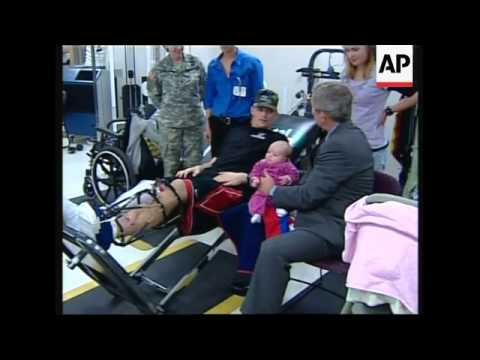 WRAP President visits heavily criticised Walter Reed Army Medical Center