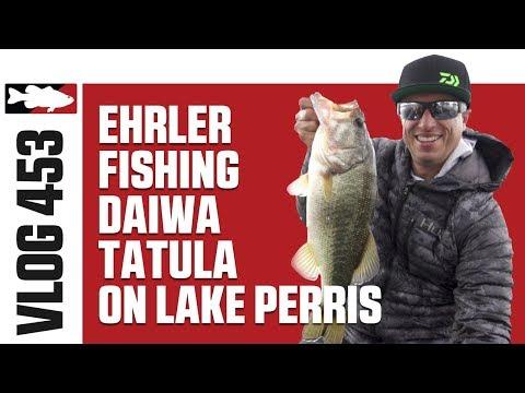 Brent Ehrler Fishing NEW Daiwa Tatula Bass Rods On Lake Perris - Tackle Warehouse VLOG #453