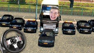 A VIAGEM com ESCOLTA!!! - Euro Truck Simulator 2 + G27