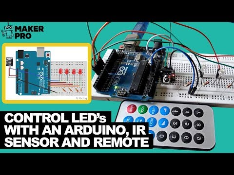 How to Control LEDs With an Arduino, IR Sensor, and Remote