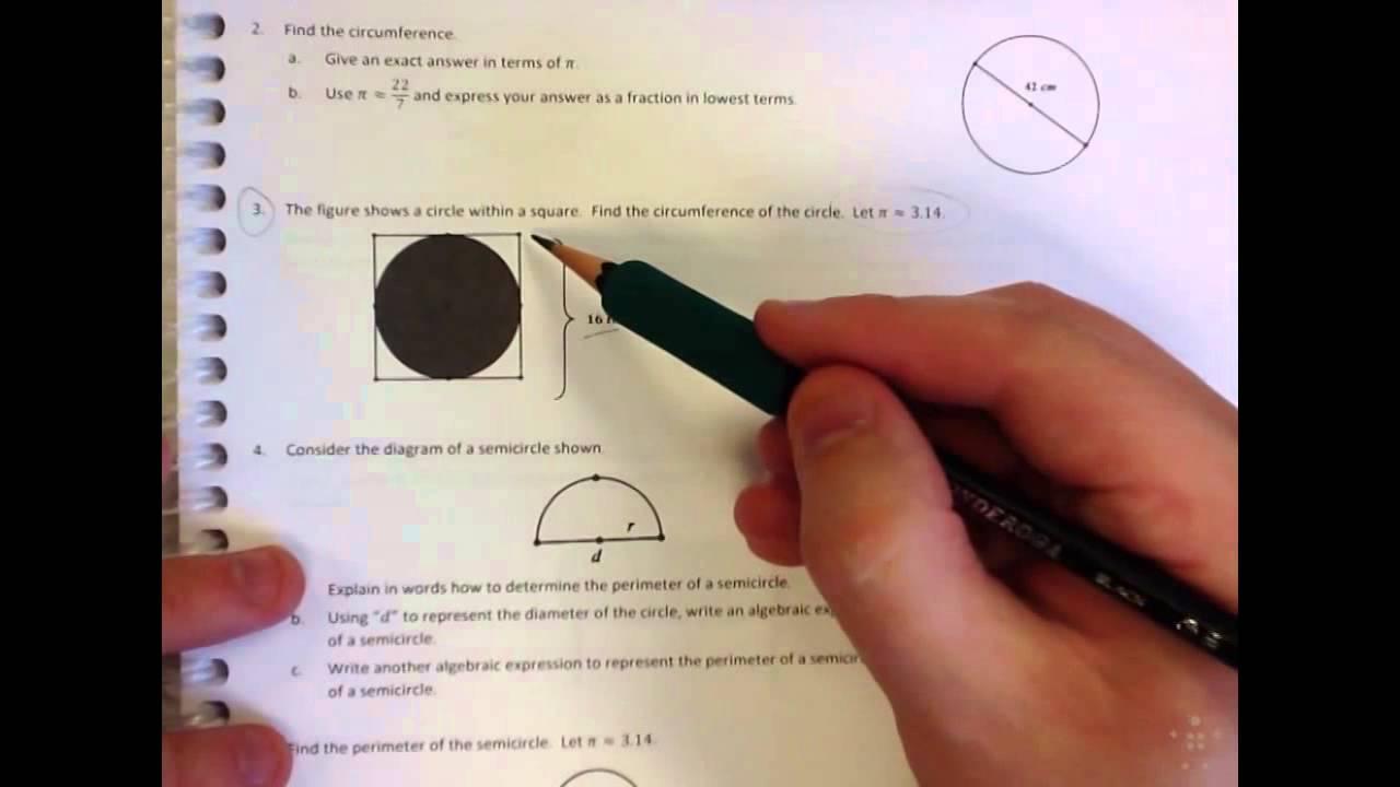 Grade 7 Module 3 Lesson 16 Problem Set #1,3,5,7 HW
