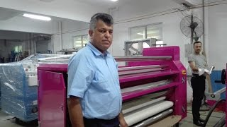 asiaprint top feed roller rotary heat press machine for sublimation transfer curtain home textile