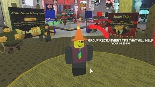 Roblox Group Recruitment Tips for Small Groups that Will Help You in 2019.