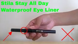 ✅  How To Use Stila Stay All Day Waterproof Eye Liner Review