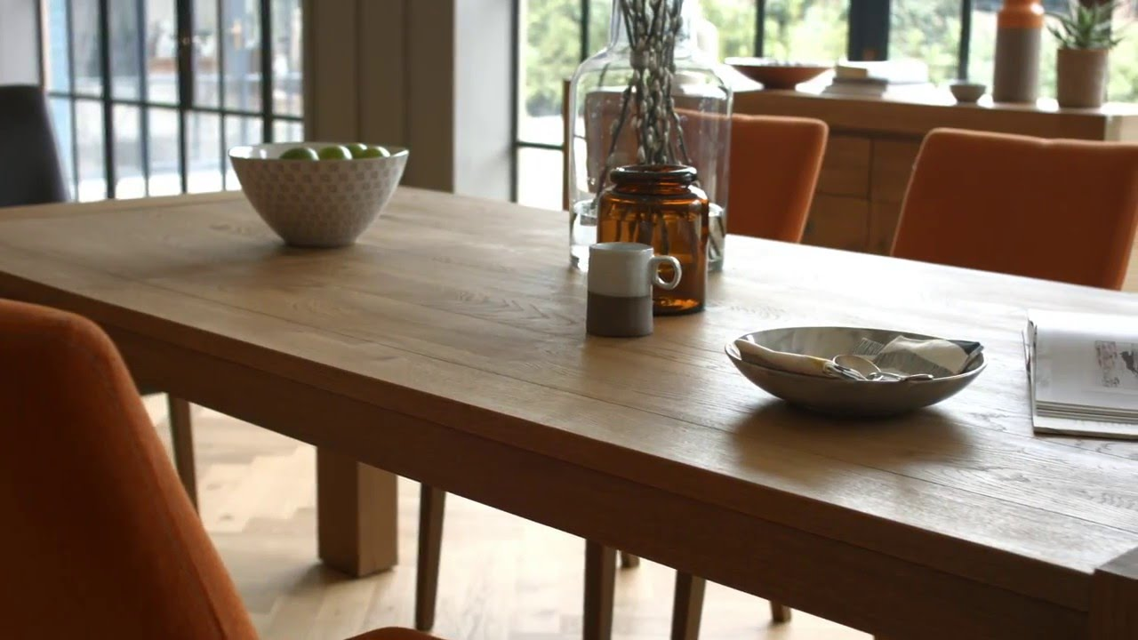 Rustic Wood Kitchen Table And Chairs Office Chair Heavy Duty Wooden Dining Set Santorini By Habufa Furniture Village Youtube