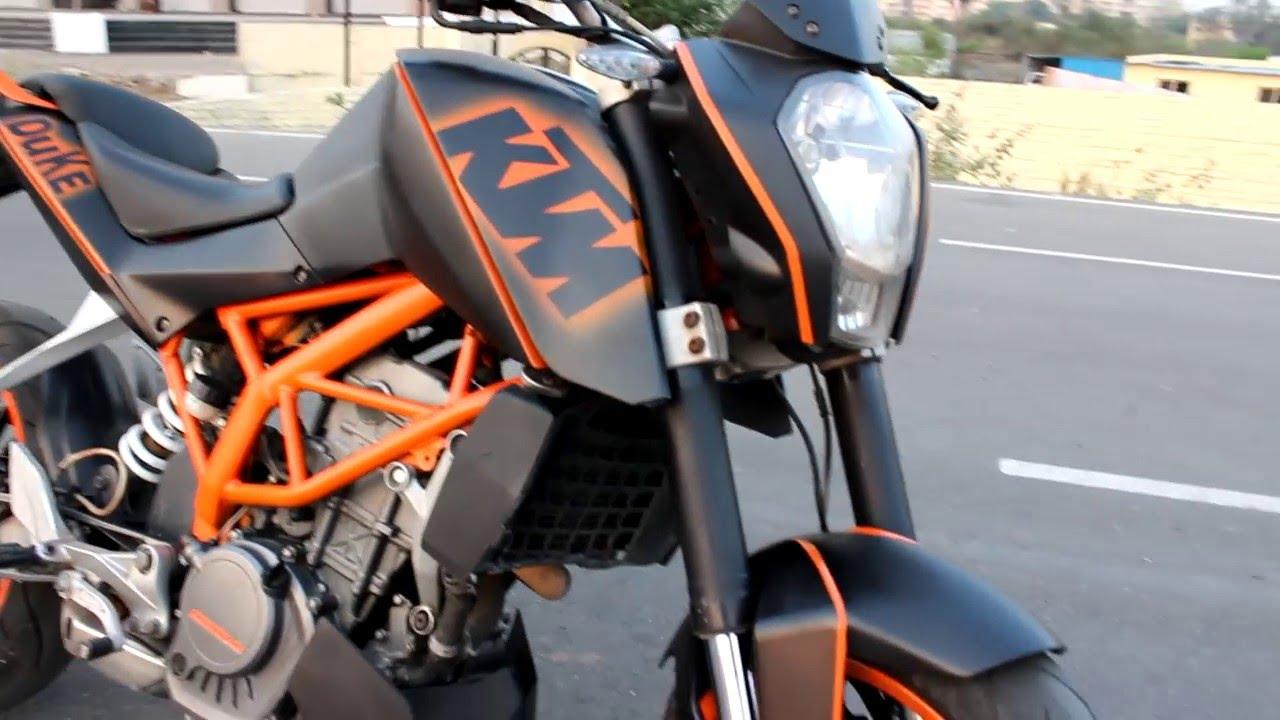 Modified ktm duke graphics carbon chrome customs youtube
