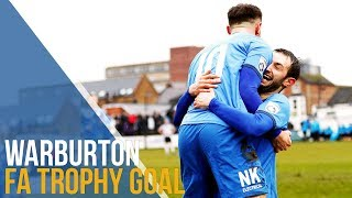 Warburton finishes off an excellent move against Maidenhead United! ⚽💨🏆🔵⚪