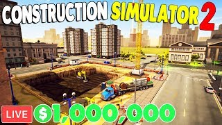 NEW - $$$ I Started a $1,000,000 CONSTRUCTION COMPANY | Construction Simulator 2 Gameplay