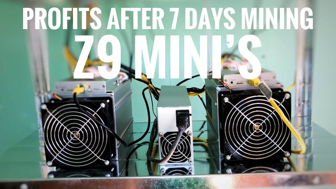 7 days mining with the Z9 mini's what I've earned?