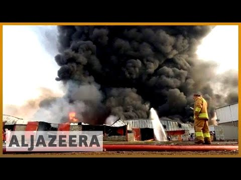 🇾🇪 Yemen: Huge fire 🔥 destroys aid supplies at Hodeidah port | Al Jazeera English