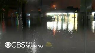 Nor'easter dumps heavy rain across East Coast