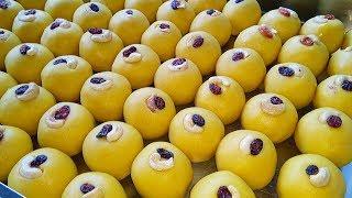 ديوالي الحلو Tokkudu اللادو صنع   بيسان كه لدو وصفة   كيفية جعل بندر لدو   الحلويات الهندية