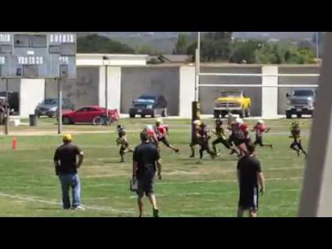 Carson Heath 10yd TD run (#2) vs Santa Barbara (alternate angle)