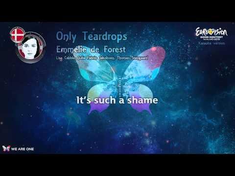 """Emmelie de Forest - """"Only Teardrops"""" (Denmark) - Karaoke version"""