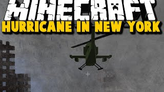 Minecraft: HURRICANE DESTROYS NEW YORK - Hurricane, Helicopter Mod Showcase - Brothers [04]