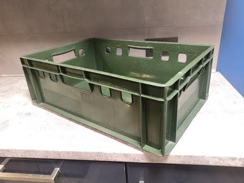 Ящик пластиковый для мяса iPlast E2 600x400x200 мм Зеленый (12.422.70.PE R (FK 6420))