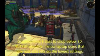 How does WoW Legion run on an old graphics card (HD 4850) but modern processor (i7 6700K)?