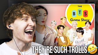 THEY'RE SUCH TROLLS! (How Well Does BTS Know Each Other? | BTS Game Show | Vanity Fair Reaction)
