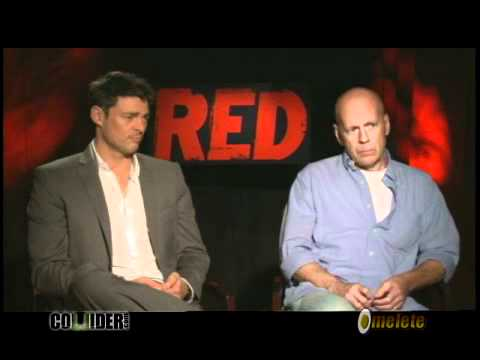 Red 2010 Interview - Karl Urban and Bruce Willis talk to Collider *english*