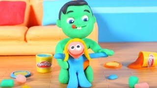Kids Playing With Play-Doh ❤ Cartoons For Kids