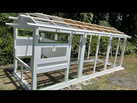 Building And Painting A Carolina Coop (Part 1 Of 3) American 6x18 Chicken Coop BIY