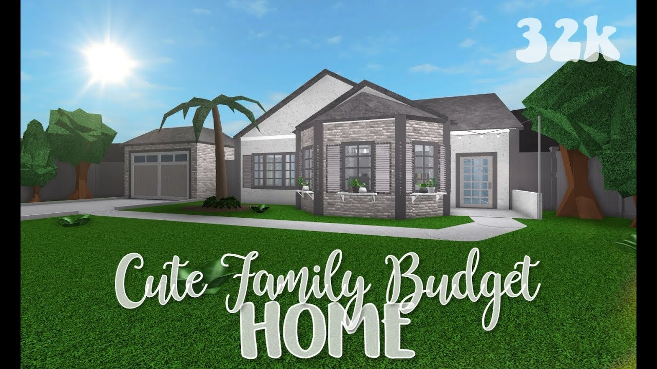 Roblox Bloxburg Cute Family Budget Home Youtube