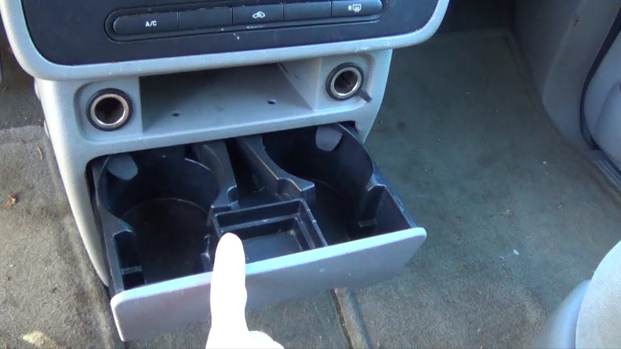remove  ford freestar cup holderashtray youtube