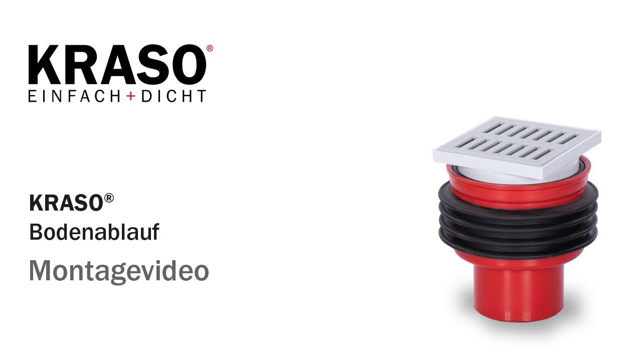 Montagevideo KRASO Bodenablauf - MPA geprüft bis 7,0 bar - YouTube