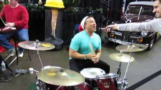 WPLR Toy Drive - AJ playing the drums - December 06, 2013
