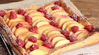 Super Simple Raspberry & Peach Tart | Ep. 1266