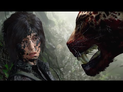Shadow of The Tomb Raider - Jaguar Boss Fight (Tomb Raider 2018) PS4 Pro