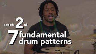 Drumming Patterns For Beginners Video Series - 7 Fundamental Drum Patterns | 2 of 7 | Stefan Brown