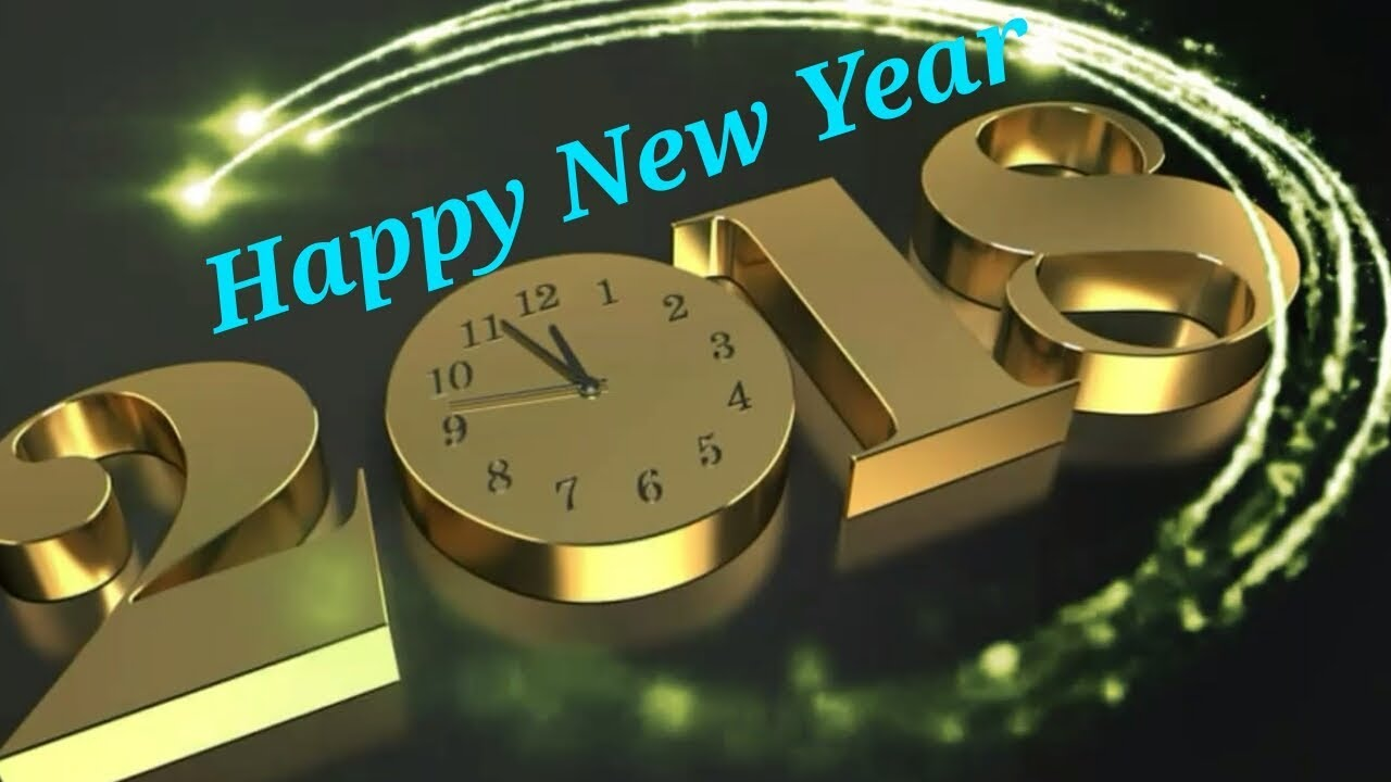 happy new year 2018 good morning video