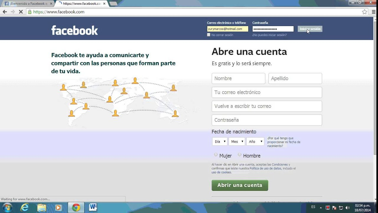 www facebook com en español iniciar sesion m
