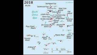 Timeline of Spratly Islands, every year (1930-2018...