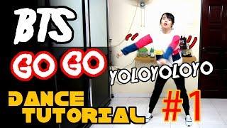 BTS GO GO DANCE TUTORIAL FULL MIRRORED Part 1   TAMA CHANN
