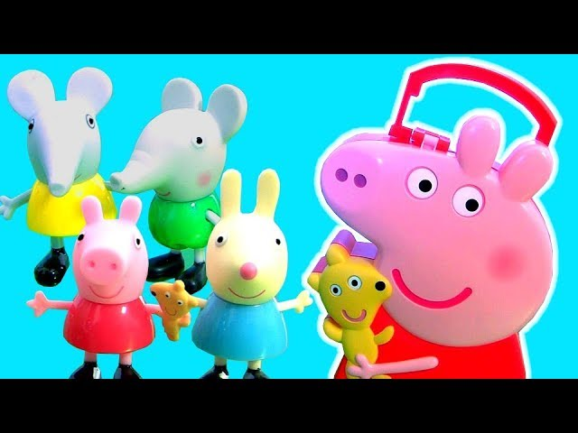 Peppa Pig Carry Along Friends Carry Case NEW 2018 Toy with George pig