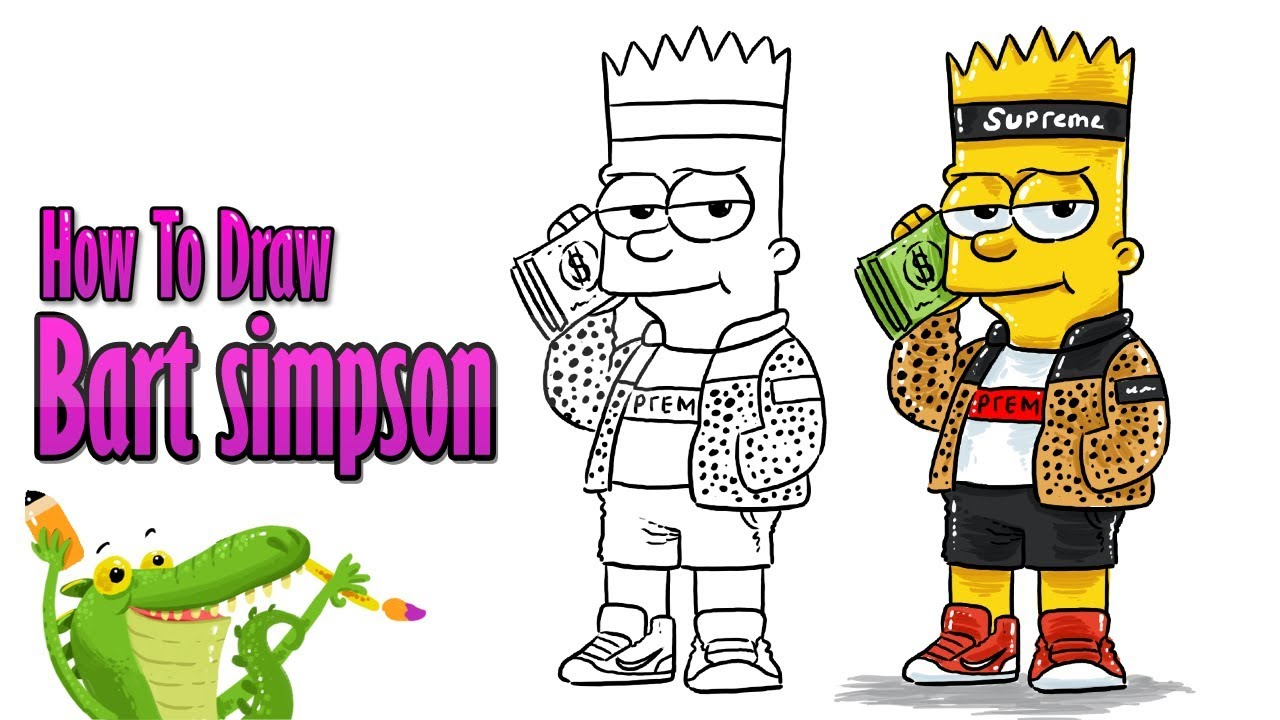 How To Draw Bart Simpson - My How To Draw