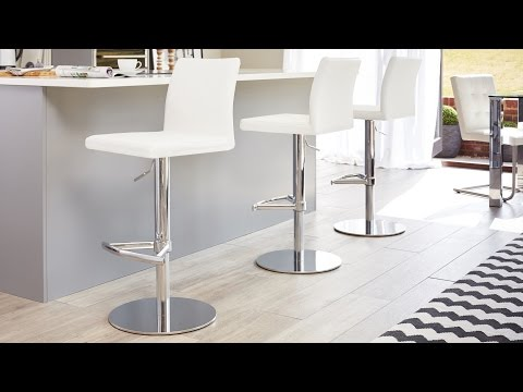 Modern and Contemporary Chrome Gas Lift Barstool