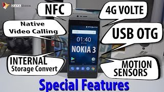 Nokia 3 4G VOLTE,Native Video Calling,NFC,Tap & Pay,OTG,Motion Gesture,Storage Expansion| Data Dock