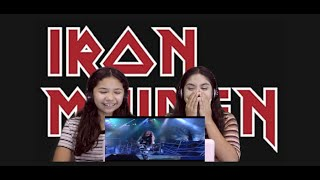 Two Girls React to Iron Maiden - The Trooper (Rock In Rio 2001)