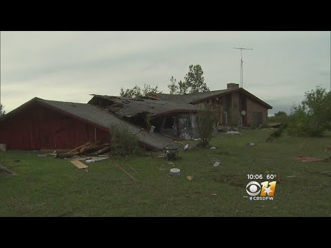 Damage Reported Throughout Tornado-Warned Counties in North Texas