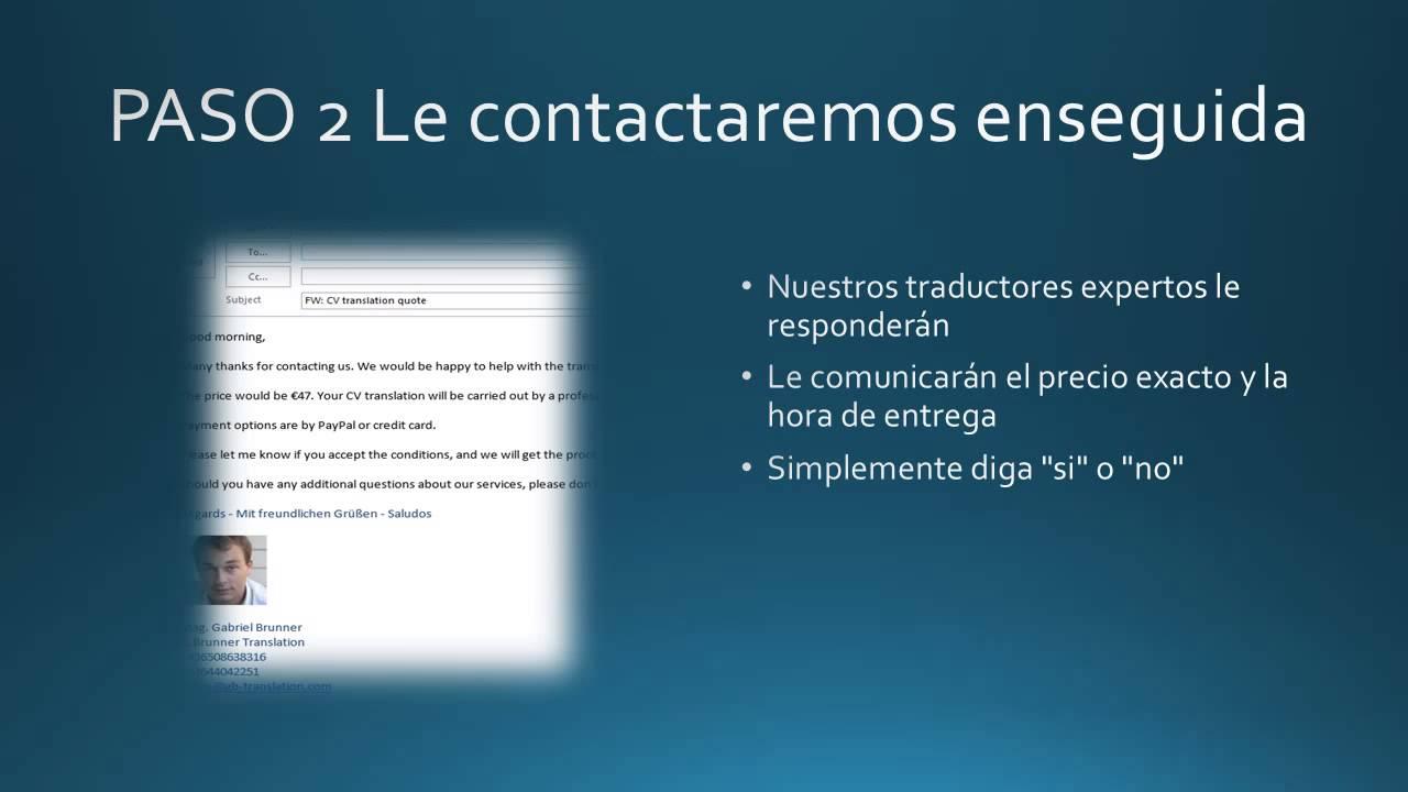 Traducir su currículum vitae en solo tres pasos - YouTube