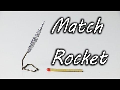 DIY - Rakete aus einem Streichholzkopf
