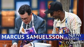 Marcus Samuelsson Makes Fried Chicken With Crickets