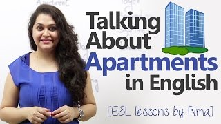 English lesson to talk about Apartment or Flats. ( Learn English Vocabulary)