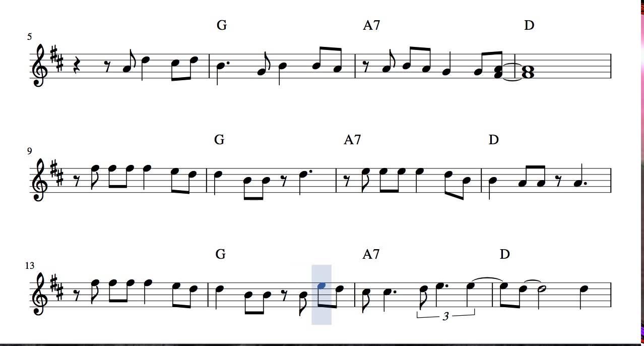Feliz Navidad Partitura En Re Mayor De Flautas Violines Y Oboe Villancico Tono Original Con Acordes Youtube