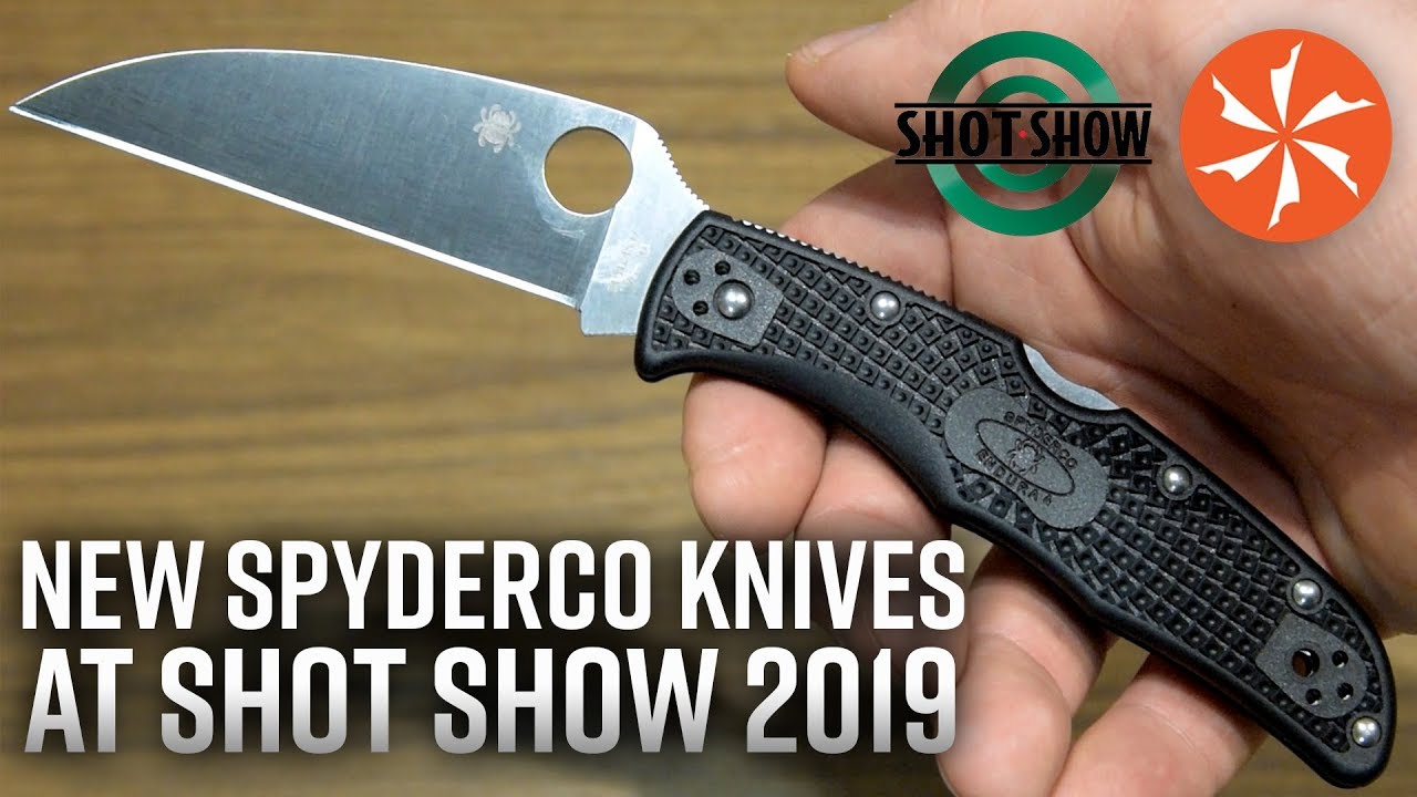 New Spyderco Knives At SHOT Show 2019 (KnifeCenter Coverage)